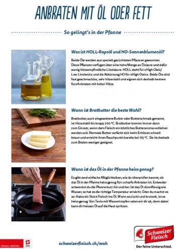 Anbraten mit Öl oder Fett