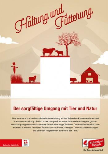 Broschüre «Haltung und Fütterung unserer Nutztiere.»