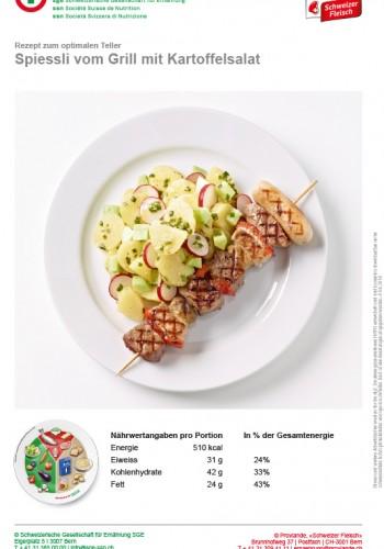 Spiessli vom Grill mit Kartoffelsalat
