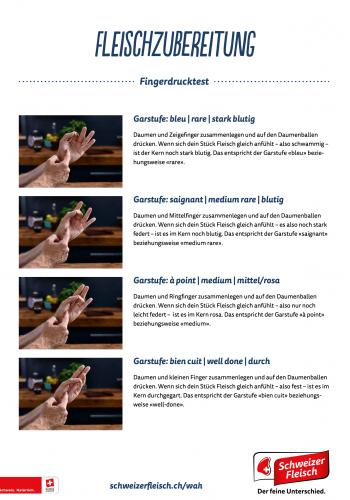Fleischzubereitung-Fingerdrucktest