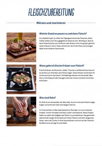 Fleischzubereitung - Würzen und marinieren